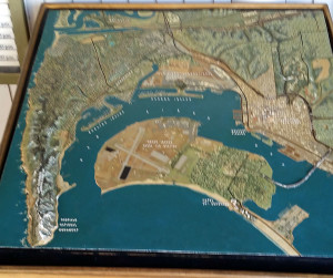 Relief map of San Diego Bay and surrounding area