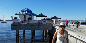 Donna at the Tuna Pier