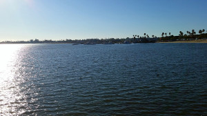 Beautiful afternoon at Mission Bay looking west from the RV park