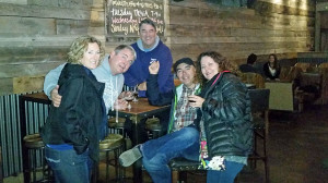 Donna, Dave, Hector, Iain and Kate at Barrel Republic