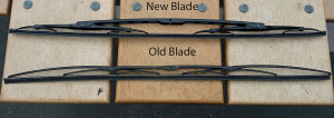 Old and new wiper blades