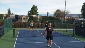 Donna on the pickleball court