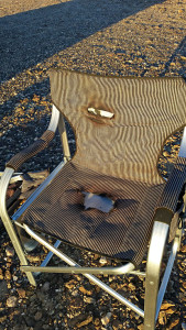 Chair didn't fare well in the fire