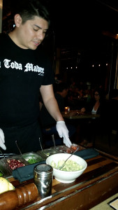 Our waiter, Carlos, making guacamole