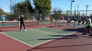 Towerpoint pickleball courts - Donna's in the far court