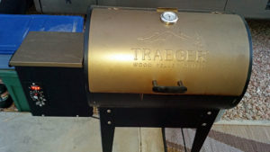 Traeger wood pellet fired grill