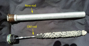 New aluminum alloy rod and old eroded magnesium rod