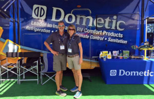 Jeff and Deb at the Dometic display