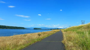 Bike path view - Government Island and McGuire Island on the left