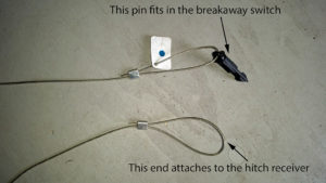 Breakaway pin and cable ends