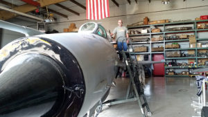 Me standing on the wing of a Soviet Mig-21
