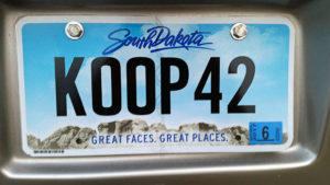 New license plate design for our coach