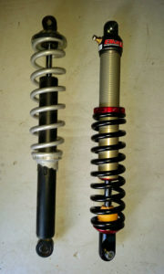 Stock front suspension and Elka custom set-up