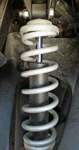 Stock front shock and coil spring