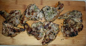 Grilled lamb chops straight from the farm