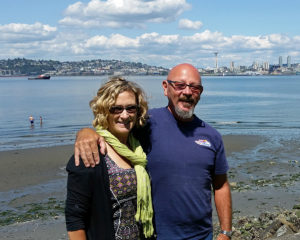 Donna and I at the point at Alki