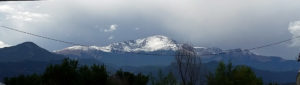 Higher overcast ceiling reveals Pike's Peak