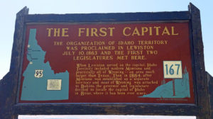 Click to enlarge and read about the first capital of Idaho
