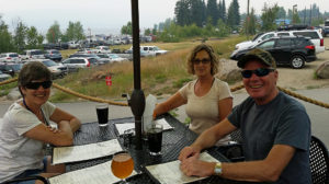Emily, Donna and Mark at Salmon River Brewring