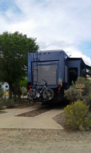 Typical Taos Valley RV Park pull through site