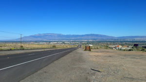 Albuquerque and the wide Rio Grande Valley from the west
