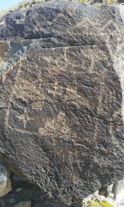 First petroglyph near trail head