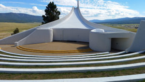 Amphitheater behind the chapel