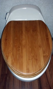 New bamboo toilet seat and lid