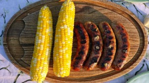 Wisconsin Brats - that's cheese oozing through the casing