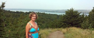 Donna at the Missouri River scenic overlook