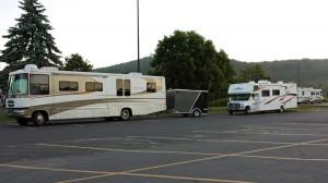 RVs overnight at Walmart