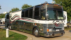 Liberty coach built on a Prevost chassis