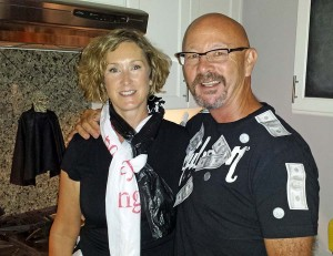 The bag lady with me at the Halloween party