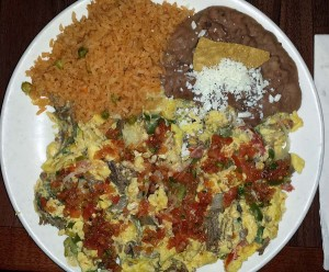 Machaca breakfast plate