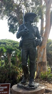 Mormon soldier statue