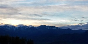 Cloudy sunset over the Wasatch range