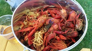 We quickly filled a bucket with crawfish shells