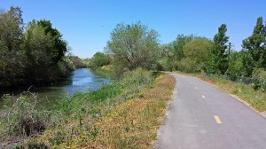 Jordan River Trail on the east bank
