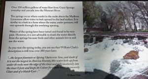 Placard at Giant Springs