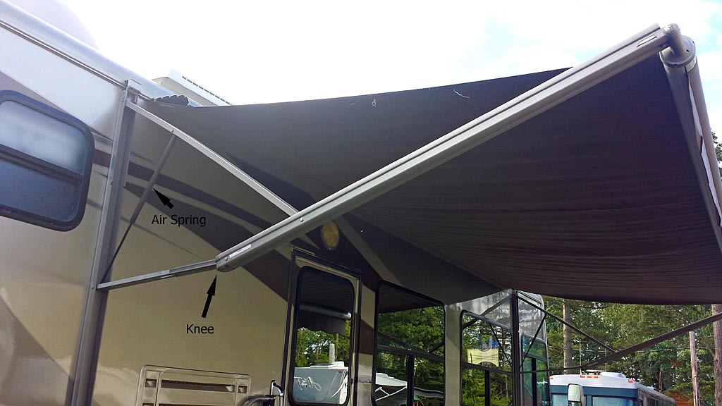 RV Awnings and Wind - Flying The Koop