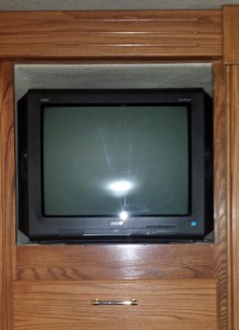 Old bedroom TV