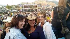 Linda, Mona and Donna at the country music festival
