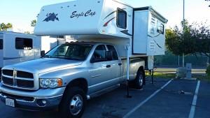 Truck camper wide slide-out
