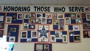 Display commemorating local veterans
