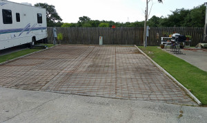 Pad ready for concrete