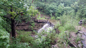 Hackett Falls yesterday