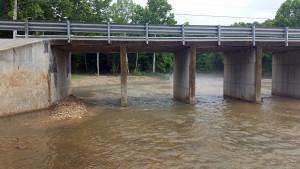 Maurice Lane overpass yesterday
