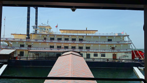 The Branson Belle viewed from a covered deck