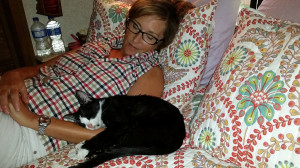 Donna and Ozark snoozing and bonding