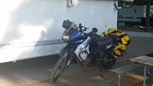 Kawasaki KLR dual sport bike
